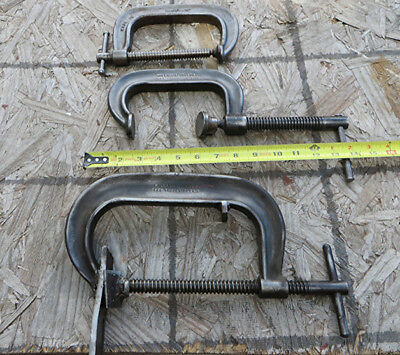 "Lot-3 USA Deep Throat C-Clamps - JH Williams 404 & 406 (Modified) & 1450-5"" Adj"