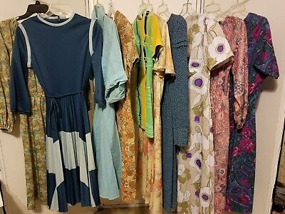 Lot of Vintage 30s 40s 50s 70s Dresses