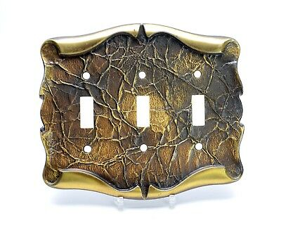 Metal Switch Plate Wall Socket Covers Triple Double Switch Victorian Style Leaf