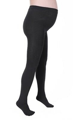 Plush Maternity Fleece Lined Full Foot Tights Sze S/M Black NEW in Package
