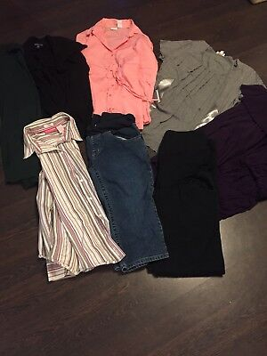 Maternity LOT of 10. Dresses. GAP maternity, PEA IN A POD, Liz Lange &more LARGE