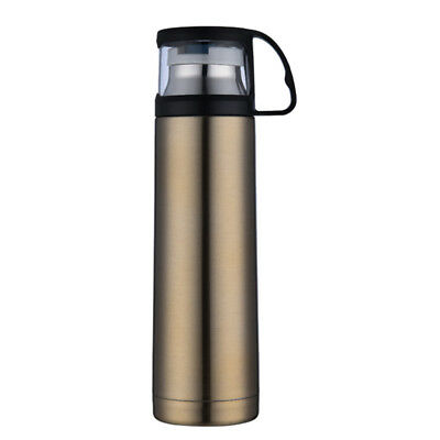 500ml Vacuum Insulated Flask Thermal Sports Water Bottle Hot/Cold Gold