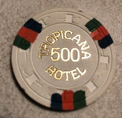 Tropicana $500 Casino Chip Las Vegas Nevada 2.99 Shipping