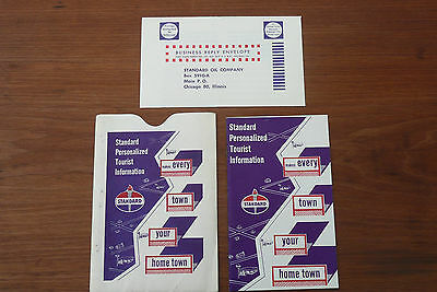 """1950s Standard Oil Booklet """"Personalized Tourist Information"""" Travel Records +++"""