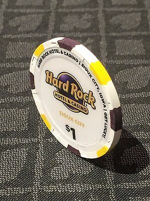 $1 Casino Poker Chip from the Hard Rock Hotel & Casino in Sioux City Iowa