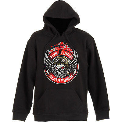 NEW Five Finger Death Punch Men's Pullover Hoodie: Bomber Patch (Small)