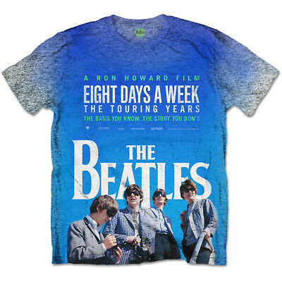 NEW The Beatles Men's Tee: 8 Days a Week Movie Poster with Sublimation Printing