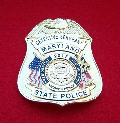 Obsolete Inauguration Detective Sergeant Badge