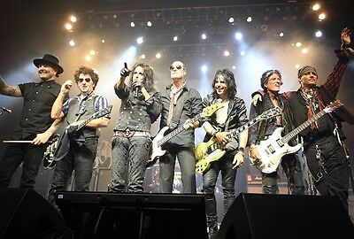 ALICE COOPER JOE PERRY JOHNNY DEPP Band Hollywood Vampires  Photo REPRINT RP