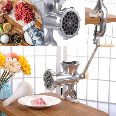 Stainless Steel Manual Meat Grinder Mincer Sauce Maker Sausage Kitchen Tools New