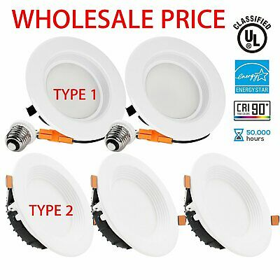 """LED Downlight 4"""" 9W/12W 5/6"""" 15W Dimmable Retrofit Kit Recessed Ceiling Light US"""