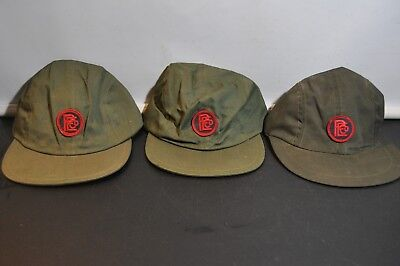 Lot of 3 vintage green peco energy work hat cap