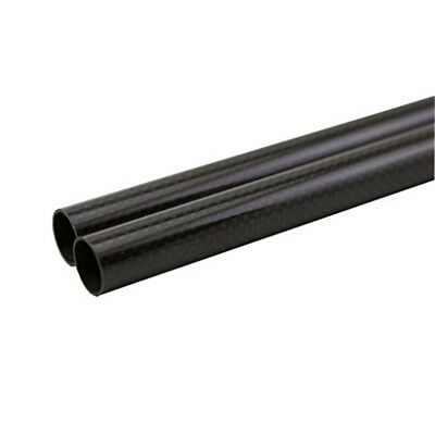 3K Roll Wrapped 17mm Carbon Fiber Tube 15mm x 17mm x 500mm Glossy or Matt for RC