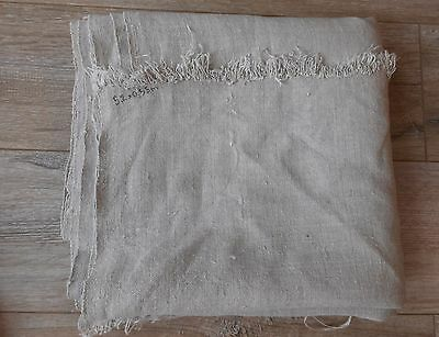 Antique Homespun Raw Thin Hemp Fabric Canvas 0,6x5,2m 19thC Great condition