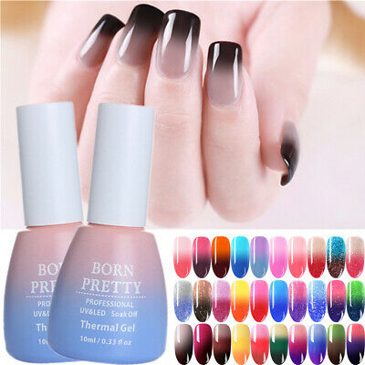 BORN PRETTY Nail UV Gel Polish Color Changing Thermal Soak Off Nail Art UV Gel