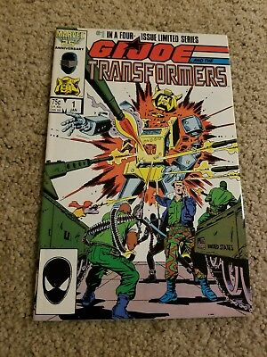 G.I. Joe and the Transformers #1 *signed* by artist HERB TRIMPE (Marvel 1987)