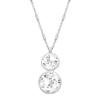 Crystaluxe Double Drop Pendant with Swarovski Crystals in Sterling Silver