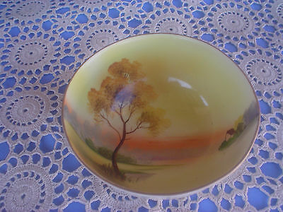 Noritake Style Sunset Footed Bowl Lovely Colours
