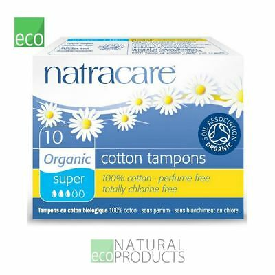 Natracare Organic Cotton Non Applicator Tampons Super 10 Per Pack