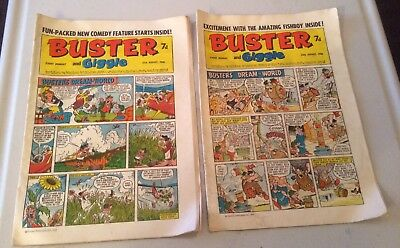 Buster And Giggle Comic x2 1968 August 17,24th