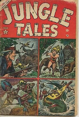Jungle Tales #1 Volume 1 1954- Atlas comics- Jann of the Jungle- Maneely