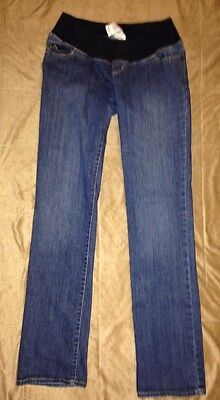 Liz Lange Maternity Jeans Women's Size 2 Stretchy Band Nice Shape Pre Owned