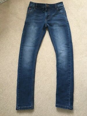 Next Boys Skinny Jeans With Adjustable Waist Age 11 Years Blue