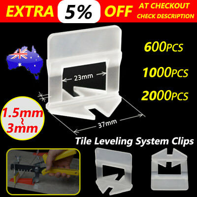 600-2000×Tile Leveling System Clip Levelling Tiling Spacer Tool Wall Floor 1.5/3