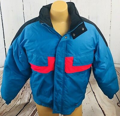 Men's Medium Vintage Coat Ski Jacket Blue/Pink/Black Colorado Classics By Gerry