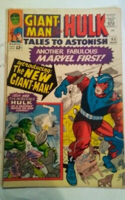 TALES TO ASTONISH #65 /1965/ Giant Man gets uniform upgrade/ Hulk by Ditko