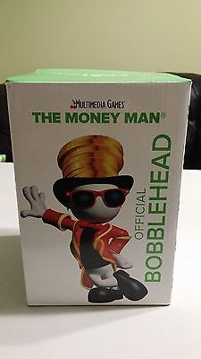 "Bobblehead Money Man Multimedia Games Bobblehead 7"" Tall New In Box"