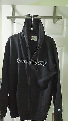 Game Of Thrones Hoodie  Xl New Black Distressed Lettering.