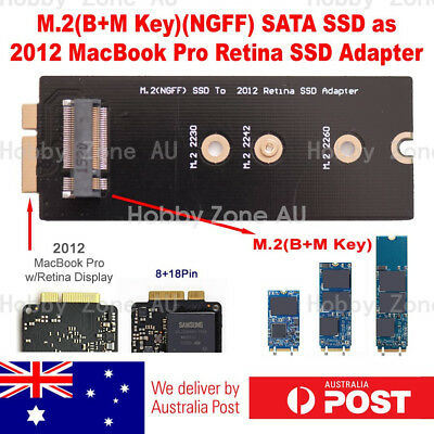 M.2 B-Key NGFF SATA SSD to 2012 Macbook Pro Retina 8+18Pin SSD Adapter Converter