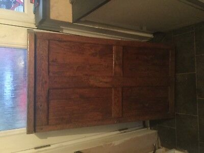 OLD WOODEN PEGGED BAR Door SWINGING DOOR came from old pub, heavy and solid n/r