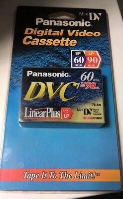 New Panasonic DVC Digital Video Cassette Mini DV SP 60min Linear Plus LP 90min