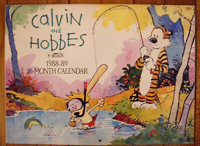 Vintage Calvin & Hobbes 1988-89 16-Month Calendar in VERY GOOD CONDITION