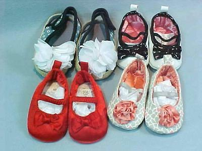 Lot of 4 Pair of Infant Baby Girl Shoes ~ New