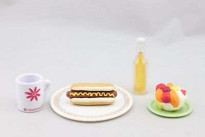 American Girl Set of 6 pcs 18'' accessories Hot dog & Soda water & milk Cup