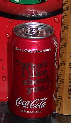 Share A Coke & A Song What I Like About You 12 Ounce Aluminum Coca Cola Can Full