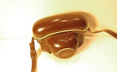 Vintage Zeiss Ikon Brown Leather Case for Contina Camera - Nice Condition