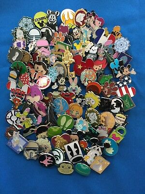 Disney Trading Pins 100 lot NO DUPLICATES Fast Priority Shipping - US Seller