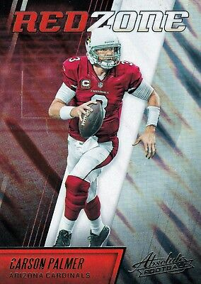 Carson Palmer 2016 Panini Absolute, Red Zone, Football Card !!