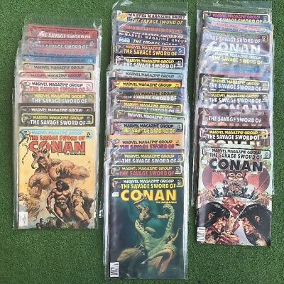 Lot of 35 (NM/MN) The Savage Sword Of Conan #60-62,64-67,70-98 Marvel Magazine