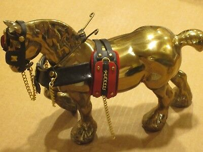 Solid Brass Draft Horse Figure  (Made in England)
