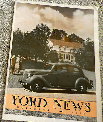 November 1935 FORD NEWS Dealer Promo Magazine brochure - 1936 Announcement Issue