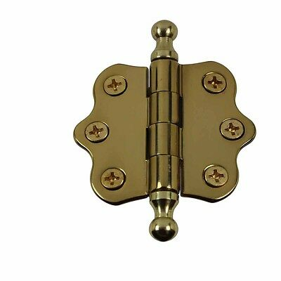Solid Brass Cabinet Hinge Vintage Ball Tip 7/16H X 2W | Renovator's Supply