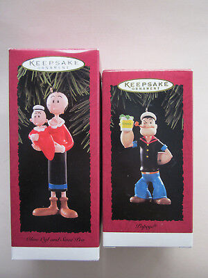 Hallmark Keepsake Ornaments - Popeye and Olive Oyl with Swee'Pea