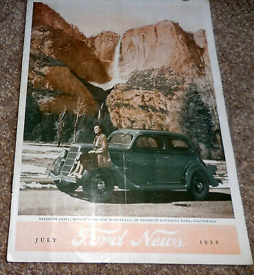 July 1935 FORD NEWS Dealer Promo Magazine catalog brochure, good condition