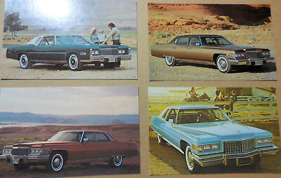Set of four different original 1976 Cadillac Postcards unused (brochure catalog)
