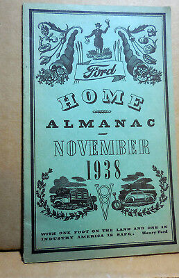 Original  November 1938 FORD HOME ALMANAC brochure catalog mint